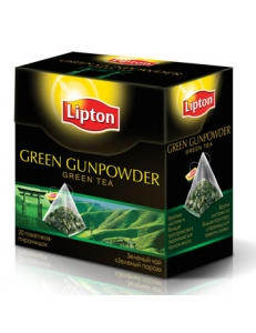 Фото Чай Lipton Green Gunpowder 20пирамидок, 20*1,8г